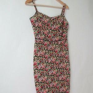 Vintage 2000s Betsey Johnson floral dress S